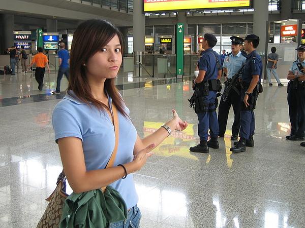 香港的機場駐衛警