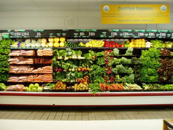 超市的蔬菜區1