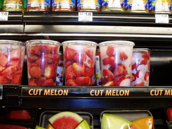 洗好的大草莓