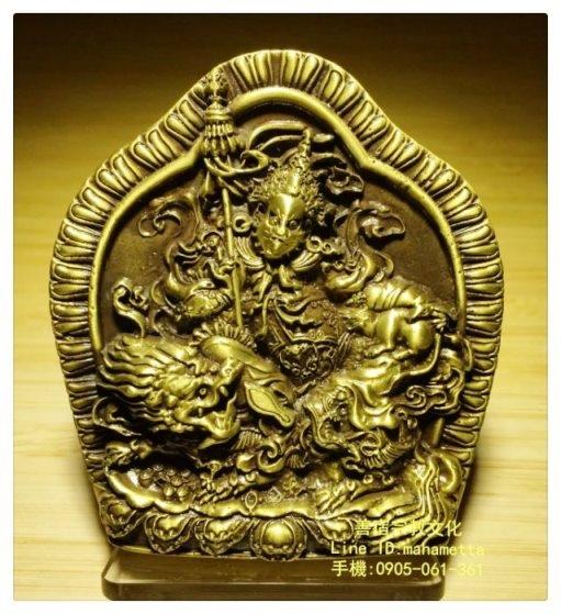 財寶天王大型銅製擦擦聖像01.jpg
