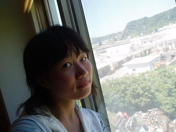 飯店外的風景(美的是我XD)