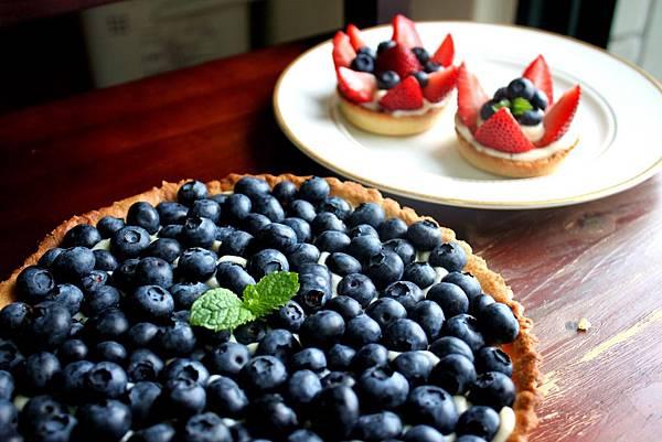 藍莓卡士達派