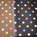 彩色水玉-黑咖 (加價布料)