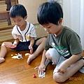 2012.10.01-主題課程,瞧我用紙張動手完成的彈簧杓~~