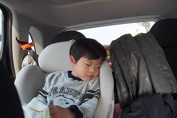 2012.12.29-飽餐一頓後立即上路前往下一個景點...吃飽最容易讓人想睡了~