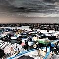 2012.12.29-岸邊停靠了許多的船隻(特殊拍攝模式..)