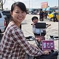 2013.02.13-來到台中的東豐自行車道~已經懷孕八個月的媽咪竟然也要坐上腳踏車...真是不知死活!!
