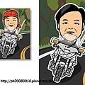 Q版人物設計分享-Mr.Pan(重機版)