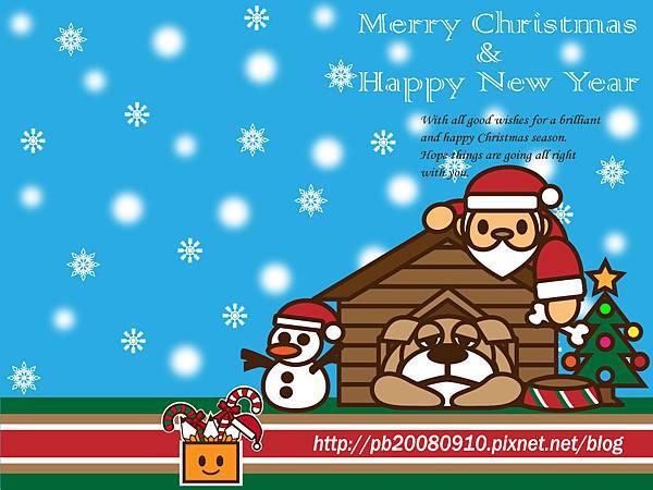 2012 Merry X'mas 桌布(1024x768)