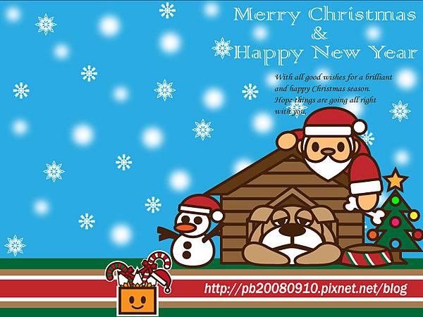 2012 Merry X'mas 桌布(800x600)