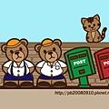歪腰Bear桌布(1024x768)