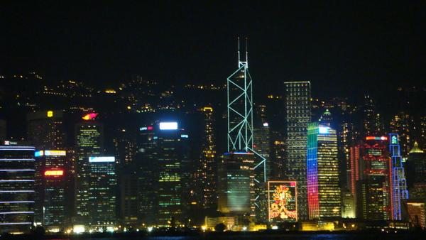 著名的香江夜景