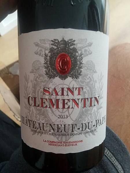 saint clementin chateauneuf du pape 2014