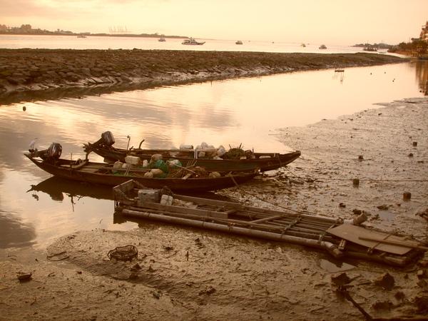 淡水的漁船