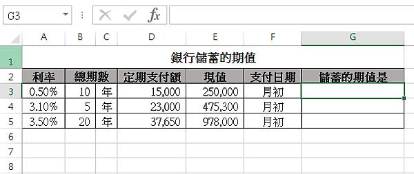 【Excel函數教學】FV:基於固定利率及等額分期付款方式,傳回期值