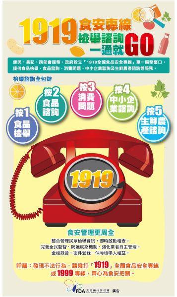2016-08-12 1919食安專線檢舉諮詢一通就GO(第569期).JPG
