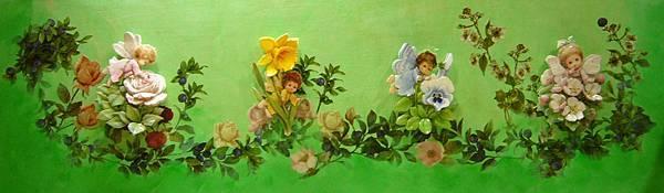 花仙子1~歐風立體紙雕+拼貼