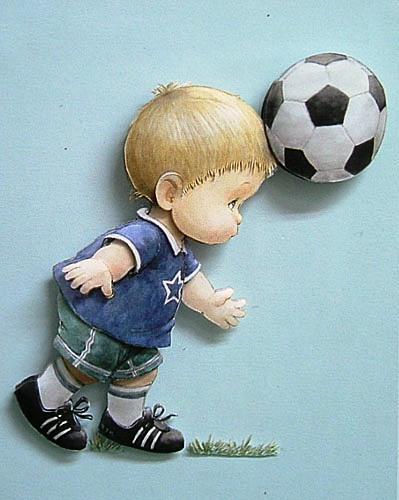 立體紙雕~體驗課作品~足球男孩