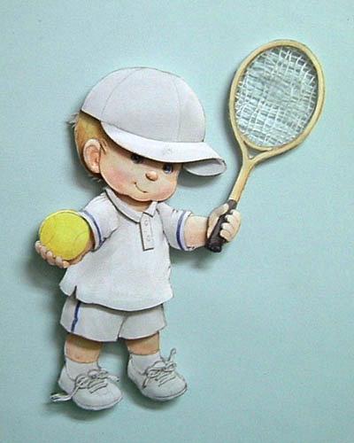 立體紙雕~體驗課作品~網球男孩