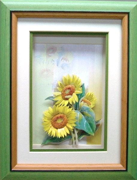 太陽花~歐風立體紙雕作品