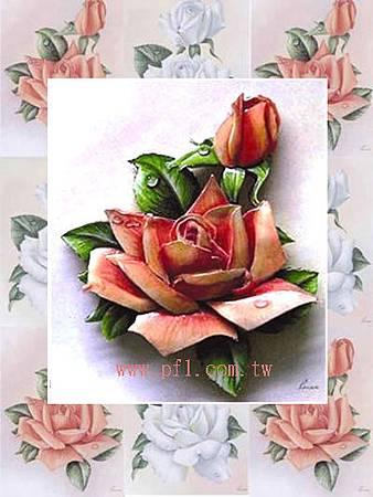 玫瑰花~歐風立體紙雕作品