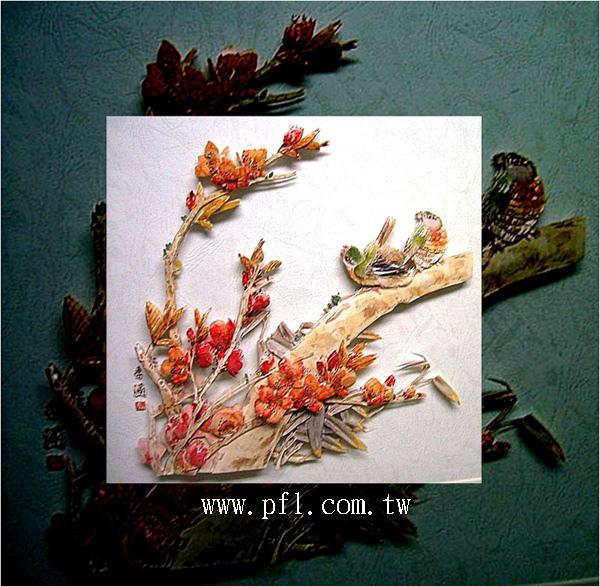 鳥鳴~歐風立體紙雕作品