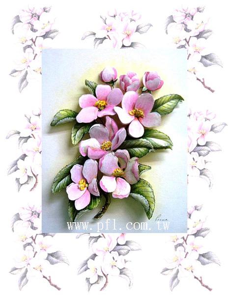櫻桃花~歐風立體紙雕作品