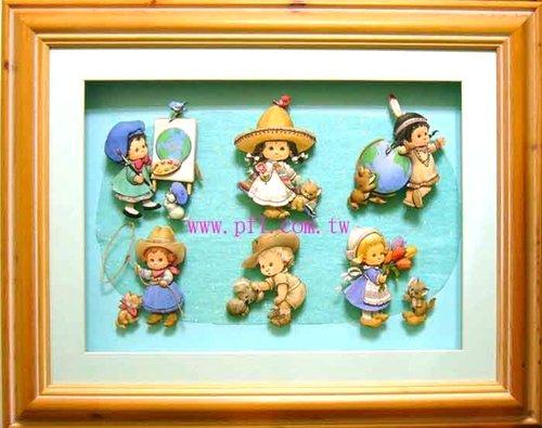 世界村娃娃~歐風立體紙雕作品
