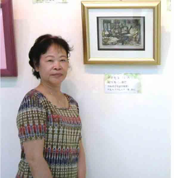 2006.8月19日台北市社教館~邱靜枝女士與作品1