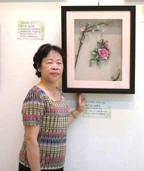 2006.8月19日台北市社教館~邱靜枝女士與作品3
