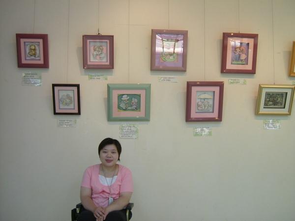 2006.8月19日台北市社教館~邵瓊儀與作品1