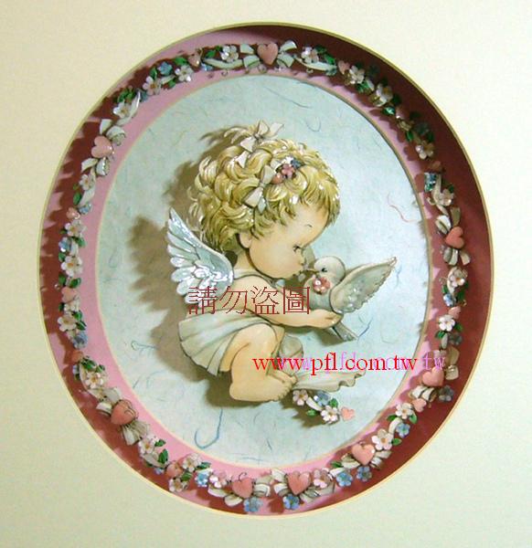 天使的祝福~歐風立體紙雕