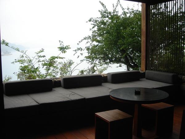 陽台上懶人沙發