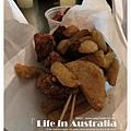 想不到在澳洲第一天就吃鹹酥雞。XD