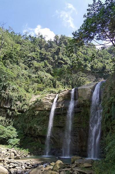 在天梯風景區,幾乎要走到最底部,但卻是很壯觀的青龍瀑布