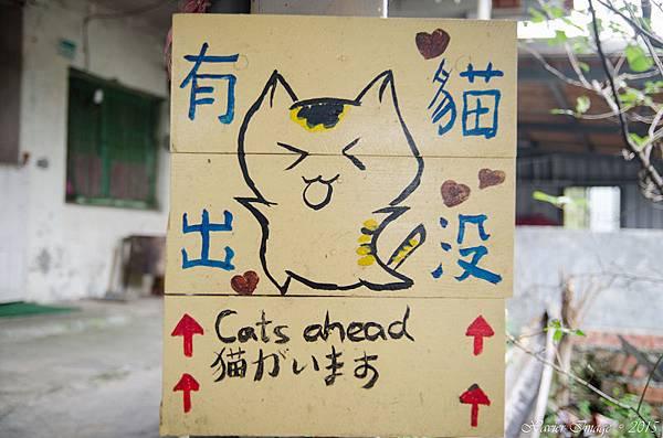 猴硐貓村_貓標示牌