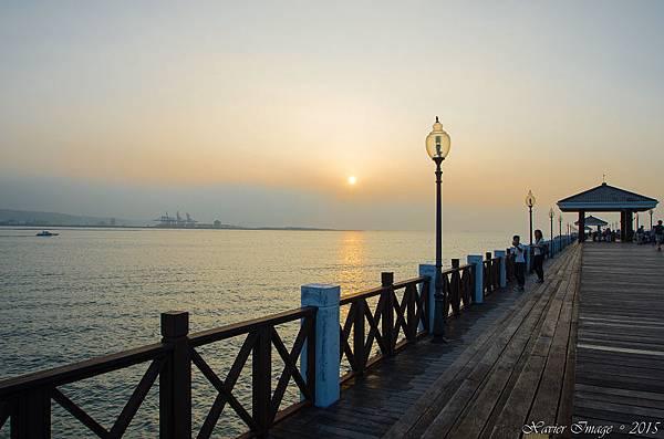淡水漁人碼頭原木棧道 2