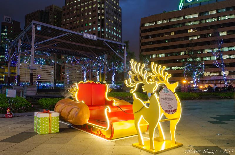 台北信義區夜景聖誕燈飾_統一阪急 3
