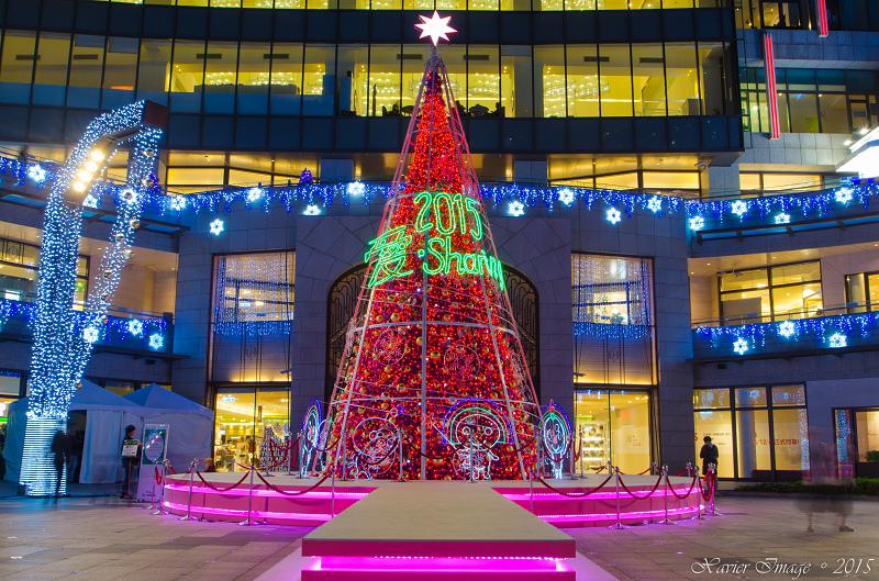 台北信義區夜景聖誕燈飾_統一阪急 5