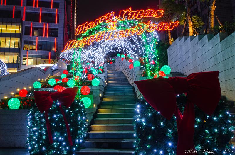 台北信義區夜景聖誕燈飾_統一阪急 7
