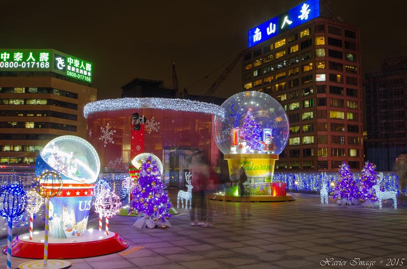 台北信義區夜景聖誕燈飾_統一阪急 8