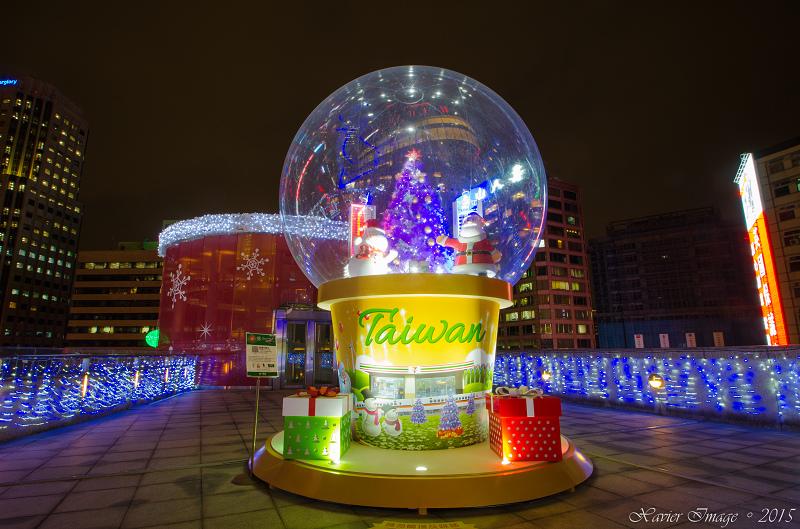 台北信義區夜景聖誕燈飾_統一阪急 9
