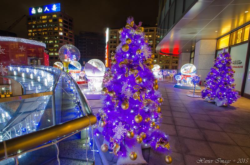 台北信義區夜景聖誕燈飾_統一阪急 11