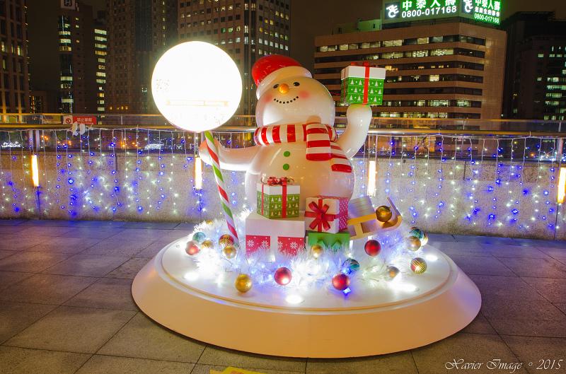 台北信義區夜景聖誕燈飾_統一阪急 12