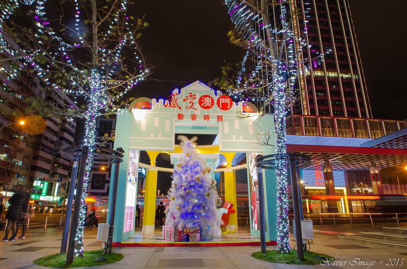 台北信義區夜景聖誕燈飾_統一阪急 14