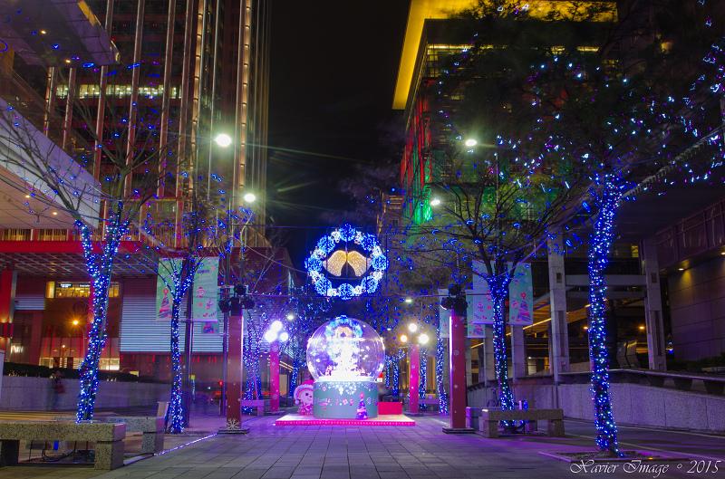 台北信義區夜景聖誕燈飾_統一阪急_信義誠品 2