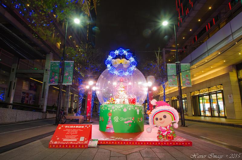 台北信義區夜景聖誕燈飾_統一阪急_信義誠品 4