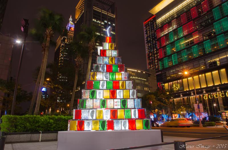 台北信義區夜景聖誕燈飾_微風松高