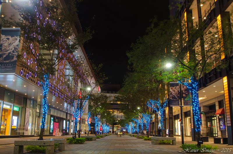 台北信義區夜景聖誕燈飾_新光三越