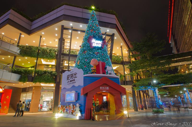 台北信義區夜景聖誕燈飾_新光三越 2